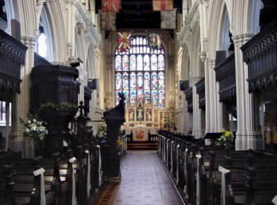Nave and pulpit, St. Michael's Church
