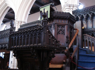 Pulpit, St. Michael's Church